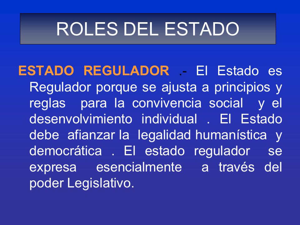 ROLES DEL ESTADO