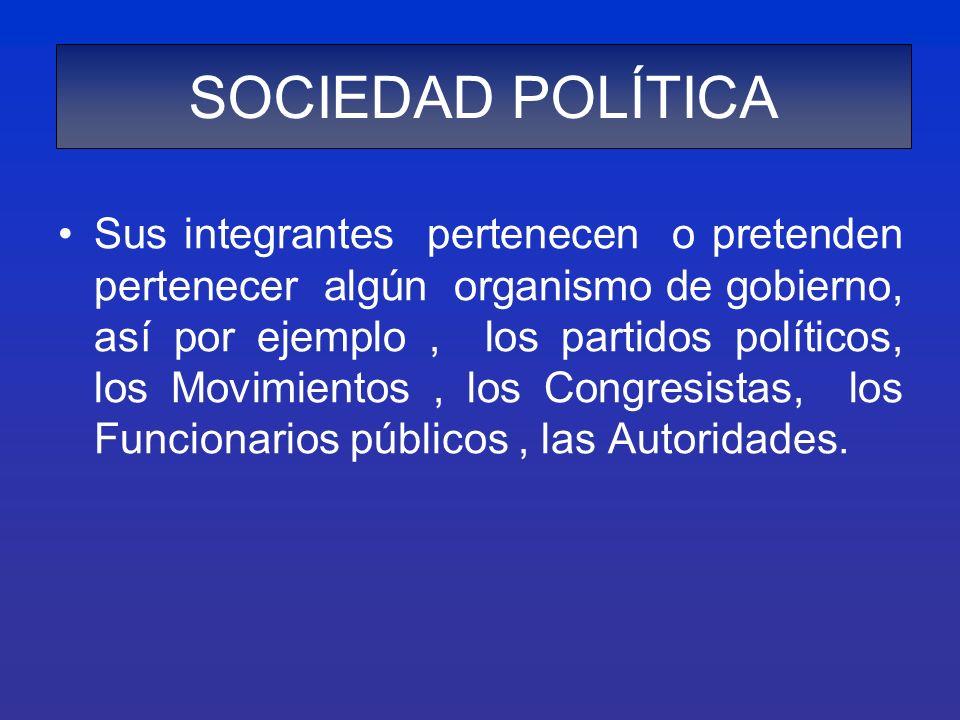 SOCIEDAD POLÍTICA