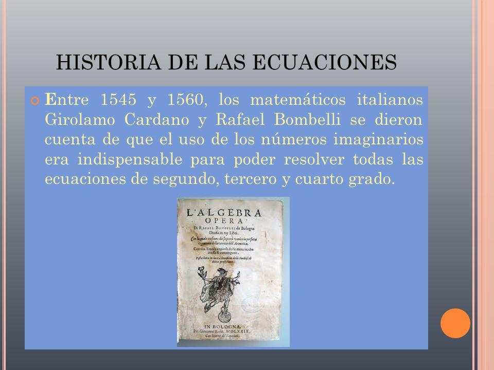 Historia de las ecuaciones ppt descargar for Ecuaciones de cuarto grado