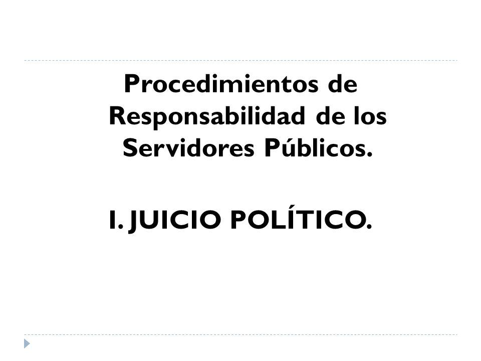 Procedimientos de Responsabilidad de los Servidores Públicos.