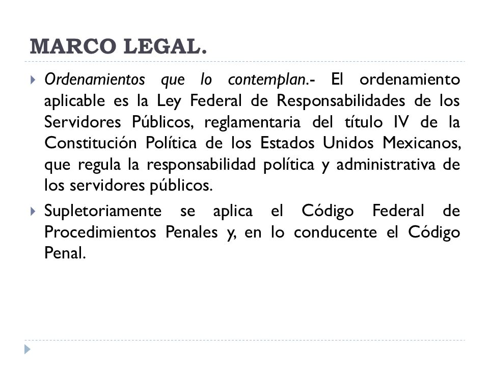 MARCO LEGAL.
