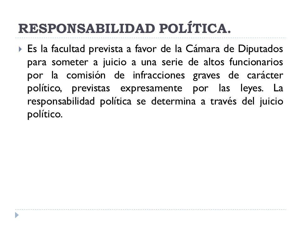 RESPONSABILIDAD POLÍTICA.