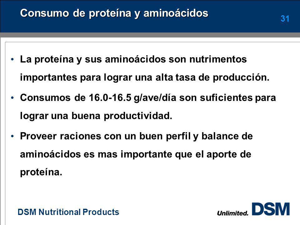 Consumo de proteína y aminoácidos