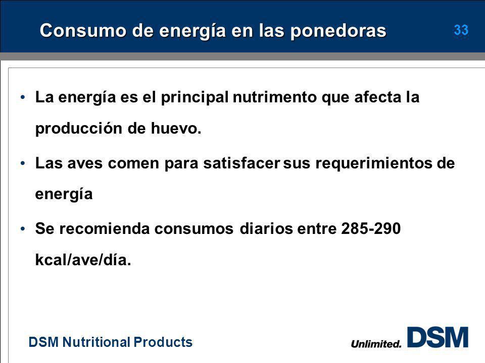 Consumo de energía en las ponedoras