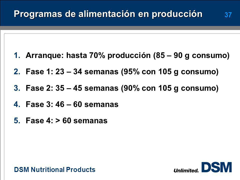 Programas de alimentación en producción