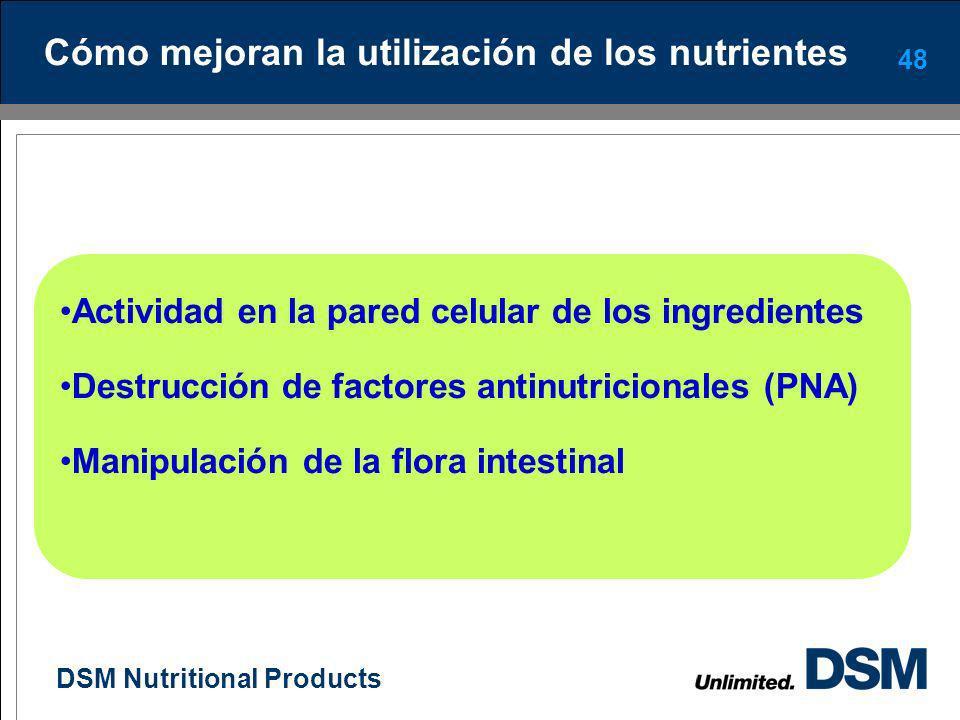 Cómo mejoran la utilización de los nutrientes