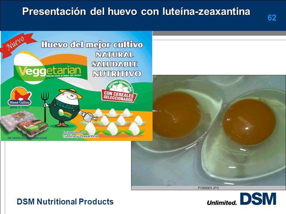 Presentación del huevo con luteína-zeaxantina