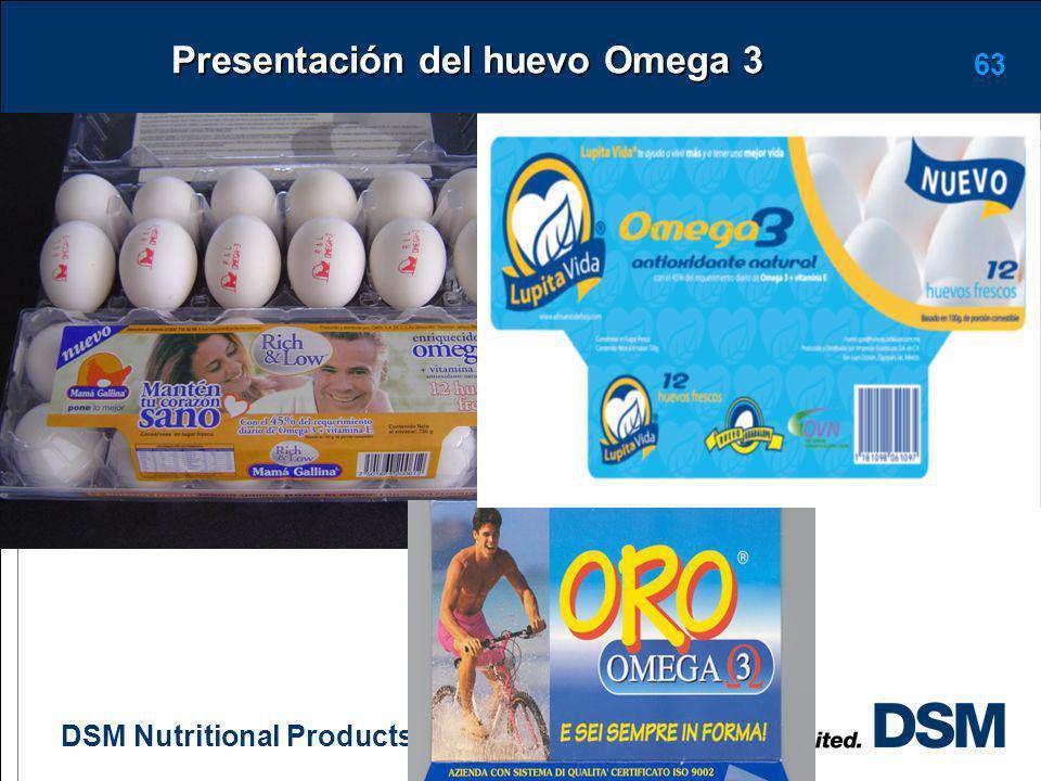Presentación del huevo Omega 3