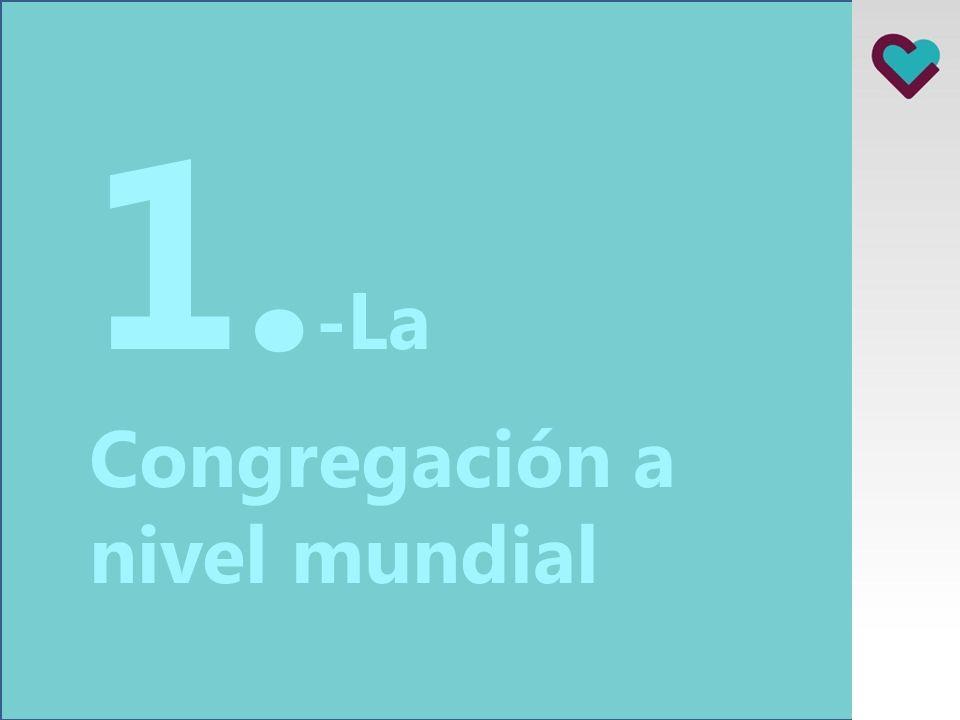 1.-La Congregación a nivel mundial