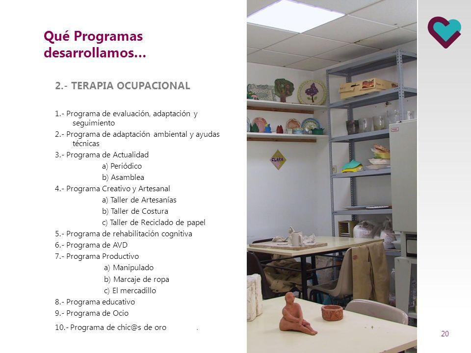 Qué Programas desarrollamos…