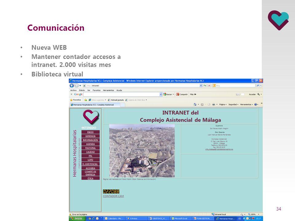 Comunicación Nueva WEB