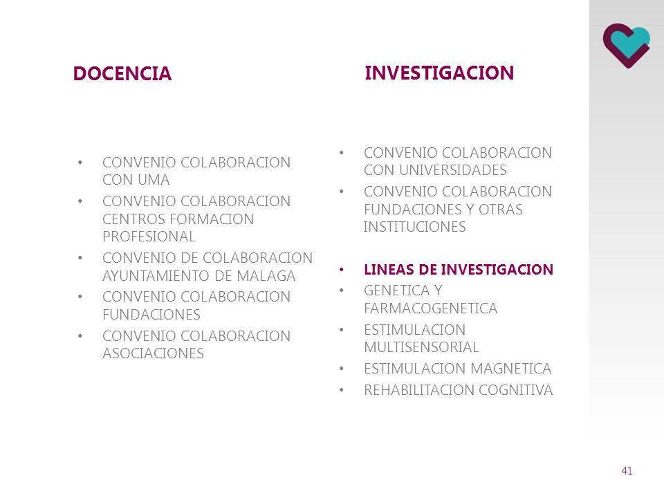 DOCENCIA INVESTIGACION CONVENIO COLABORACION CON UNIVERSIDADES