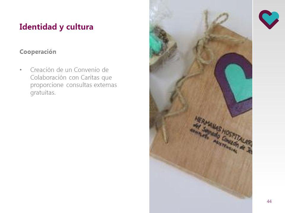 Identidad y cultura Cooperación