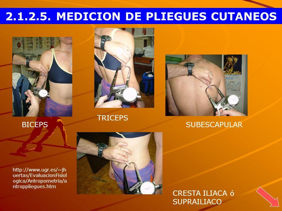 2.1.2.5. MEDICION DE PLIEGUES CUTANEOS