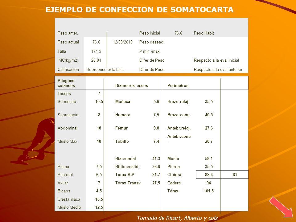 EJEMPLO DE CONFECCION DE SOMATOCARTA
