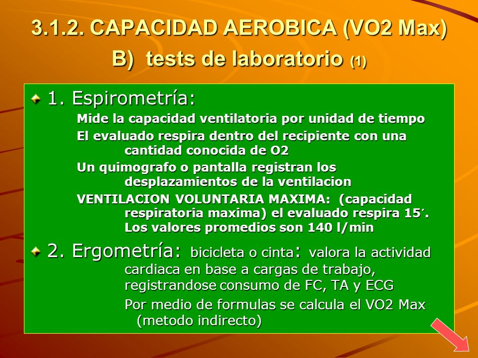 CAPACIDAD AEROBICA (VO2 Max) B) tests de laboratorio (1)