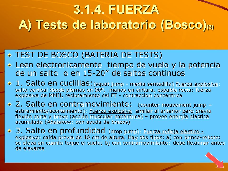 FUERZA A) Tests de laboratorio (Bosco)(3)