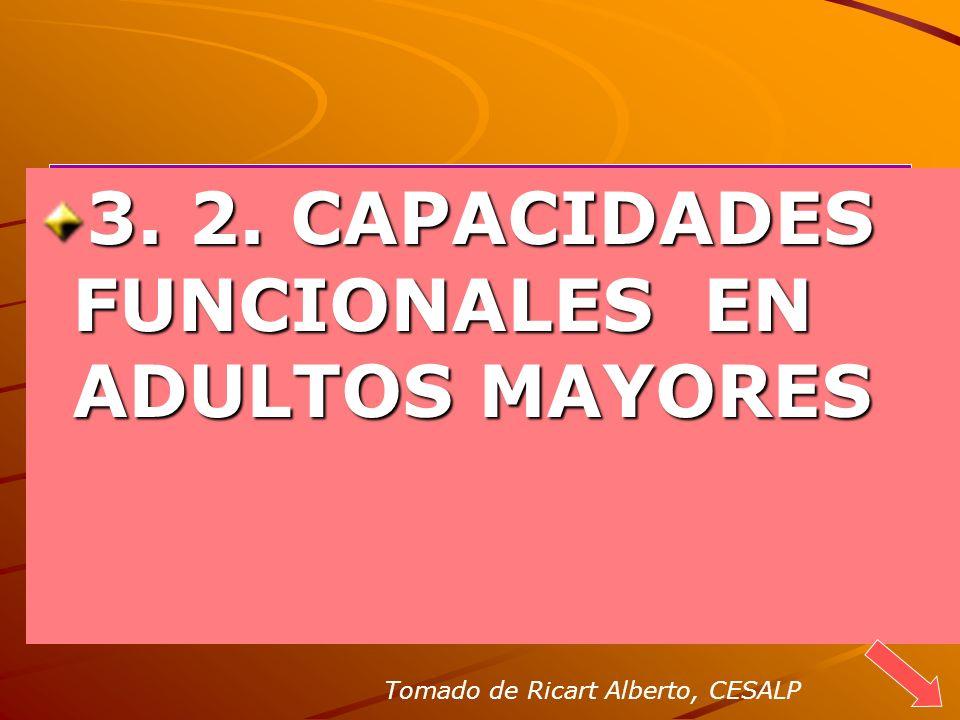 3. 2. CAPACIDADES FUNCIONALES EN ADULTOS MAYORES