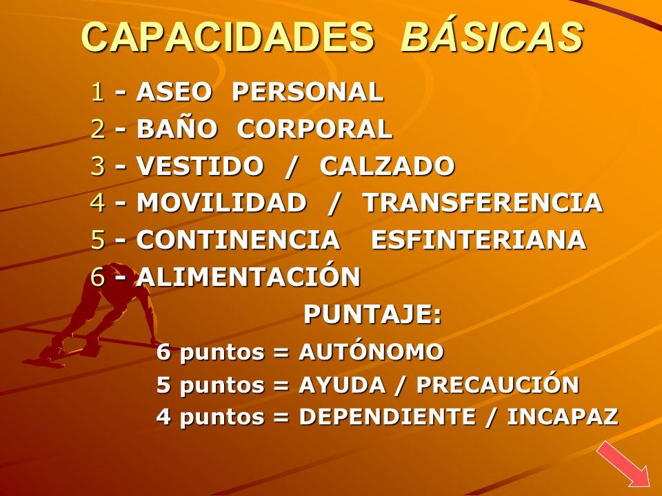 CAPACIDADES BÁSICAS - ASEO PERSONAL - BAÑO CORPORAL