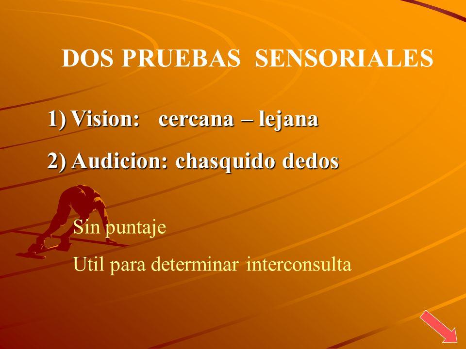 DOS PRUEBAS SENSORIALES
