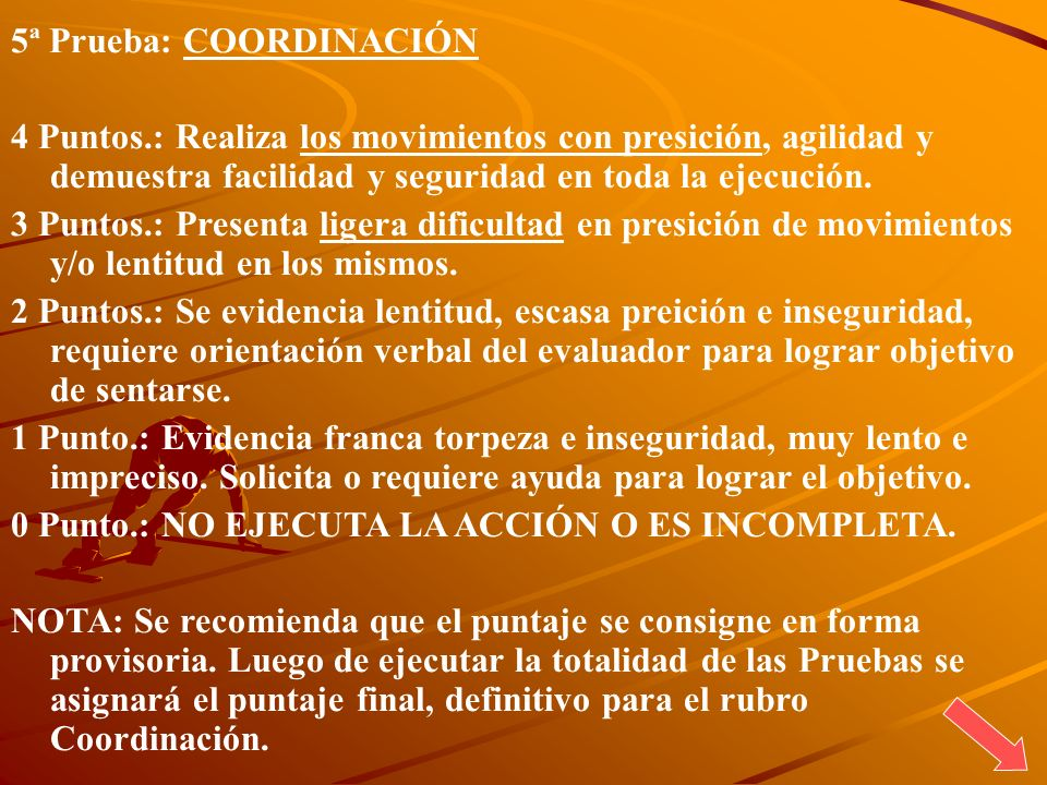 5ª Prueba: COORDINACIÓN