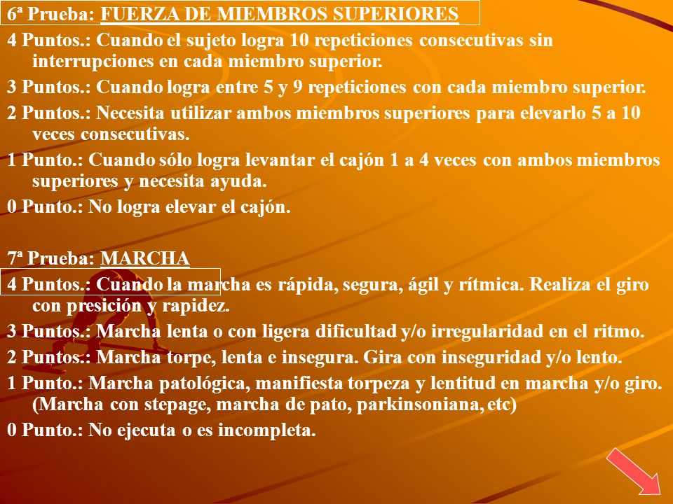 6ª Prueba: FUERZA DE MIEMBROS SUPERIORES
