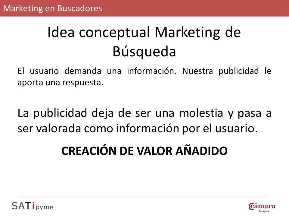 Idea conceptual Marketing de Búsqueda
