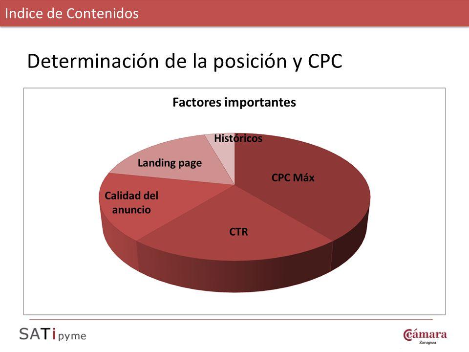 Determinación de la posición y CPC