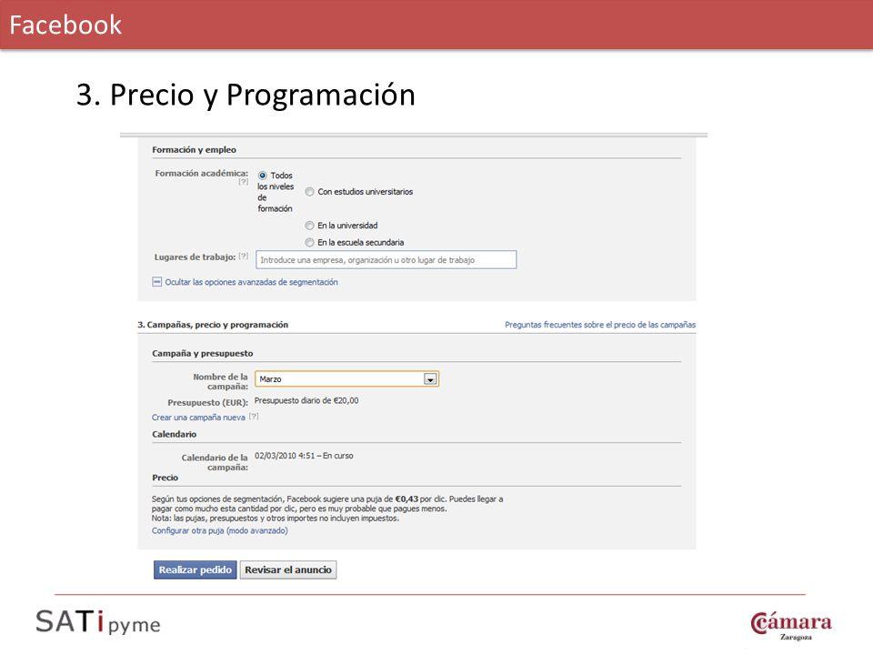 Facebook 3. Precio y Programación