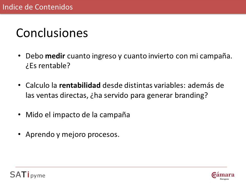 Conclusiones Indice de Contenidos