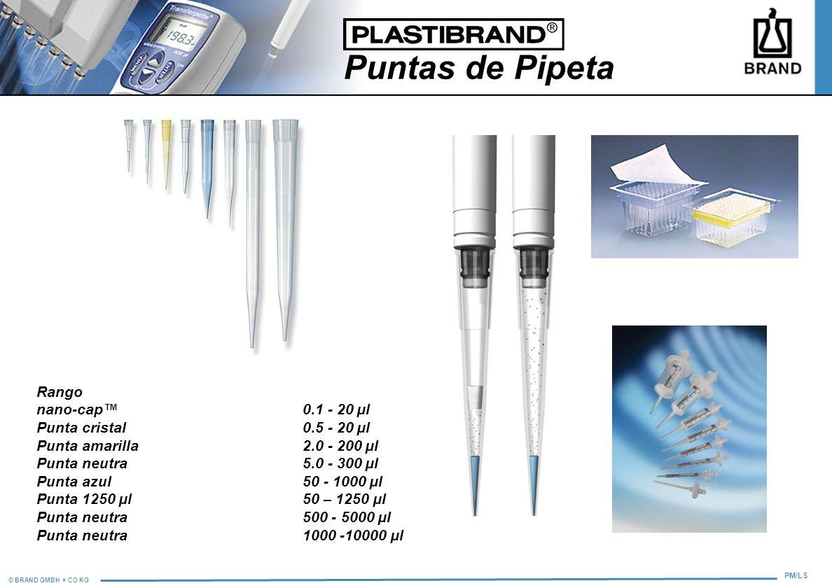 Puntas de Pipeta Rango nano-cap™ 0.1 - 20 µl Punta cristal 0.5 - 20 µl