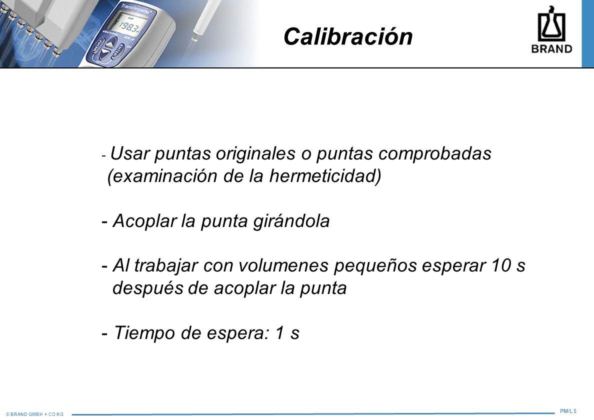 Calibración (examinación de la hermeticidad)