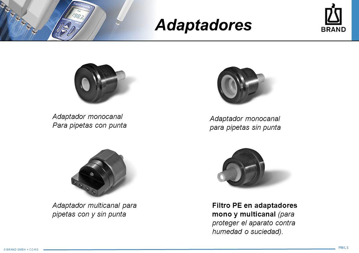 Adaptadores Adaptador monocanal Para pipetas con punta
