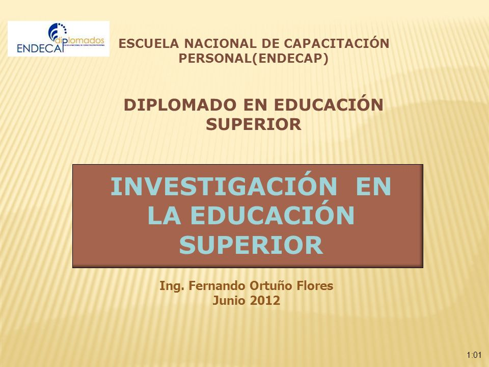INVESTIGACIÓN EN LA EDUCACIÓN SUPERIOR