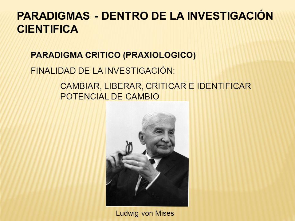 PARADIGMAS - DENTRO DE LA INVESTIGACIÓN CIENTIFICA