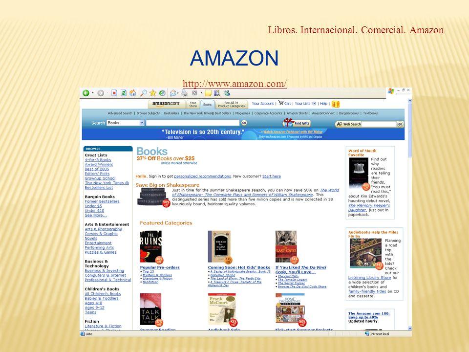 Libros. Internacional. Comercial. Amazon