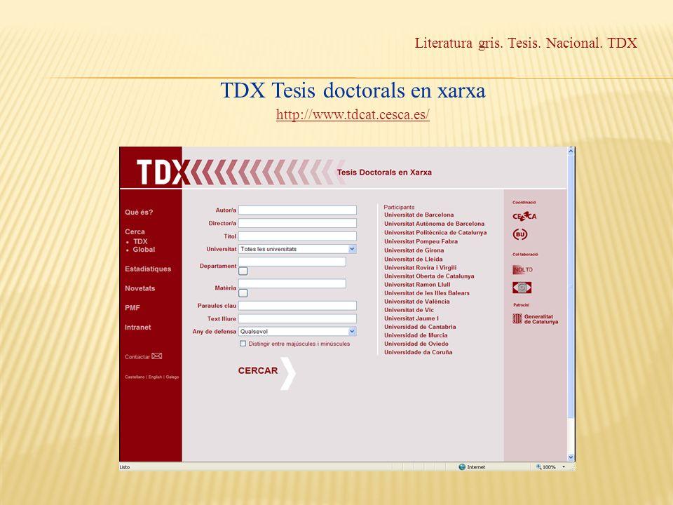 TDX Tesis doctorals en xarxa