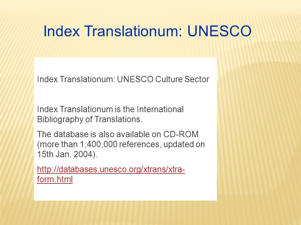 Index Translationum: UNESCO