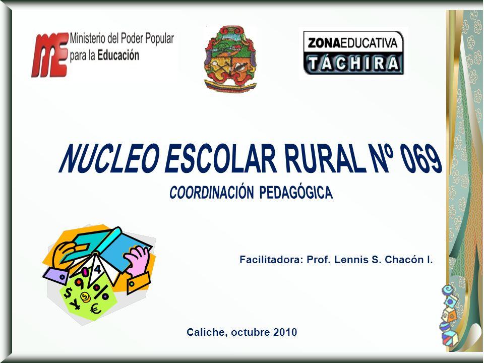 NUCLEO ESCOLAR RURAL Nº 069 COORDINACIÓN PEDAGÓGICA