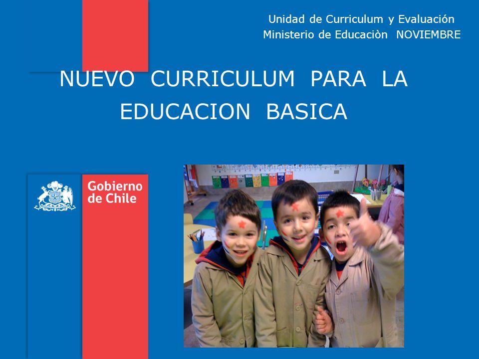 NUEVO CURRICULUM PARA LA EDUCACION BASICA
