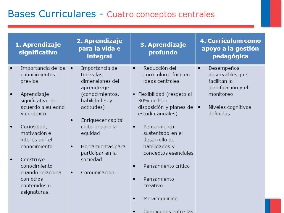 Bases Curriculares - Cuatro conceptos centrales