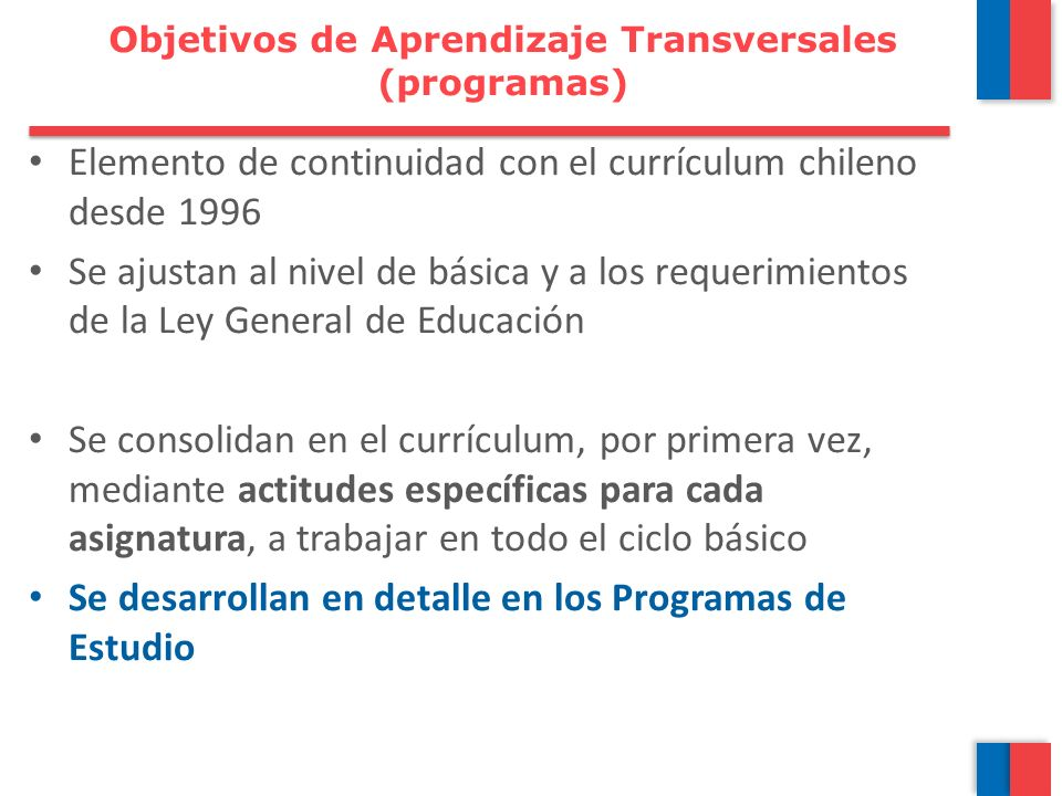 Objetivos de Aprendizaje Transversales (programas)