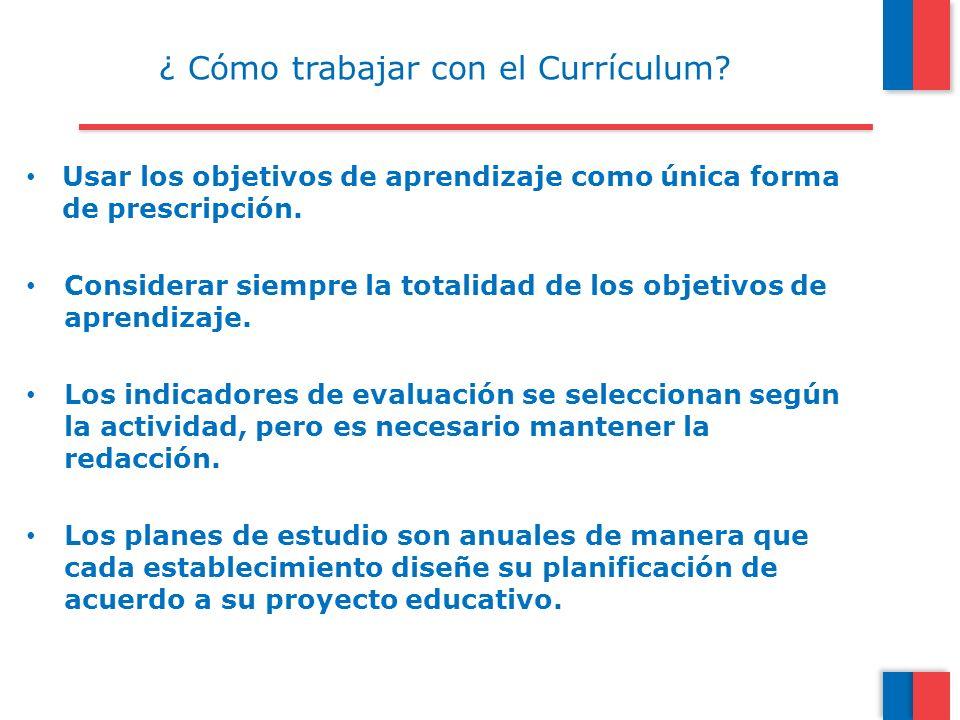 ¿ Cómo trabajar con el Currículum