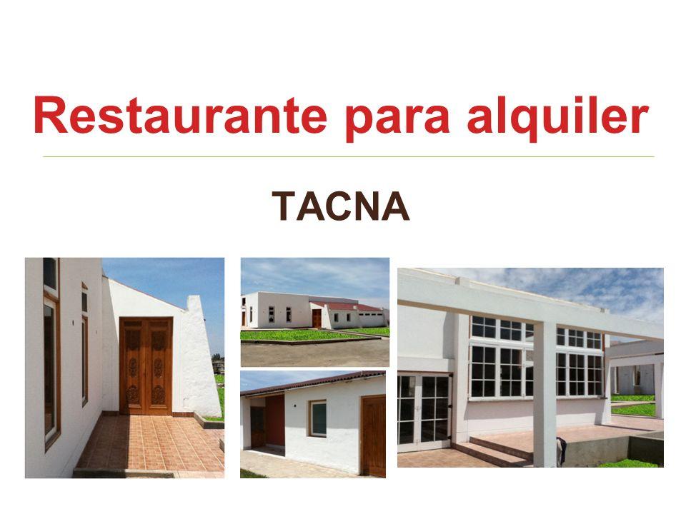 Restaurante para alquiler