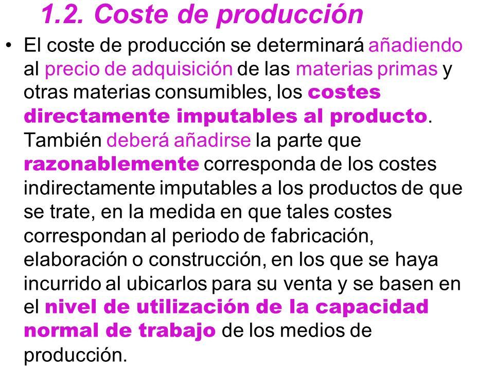 1.2. Coste de producción