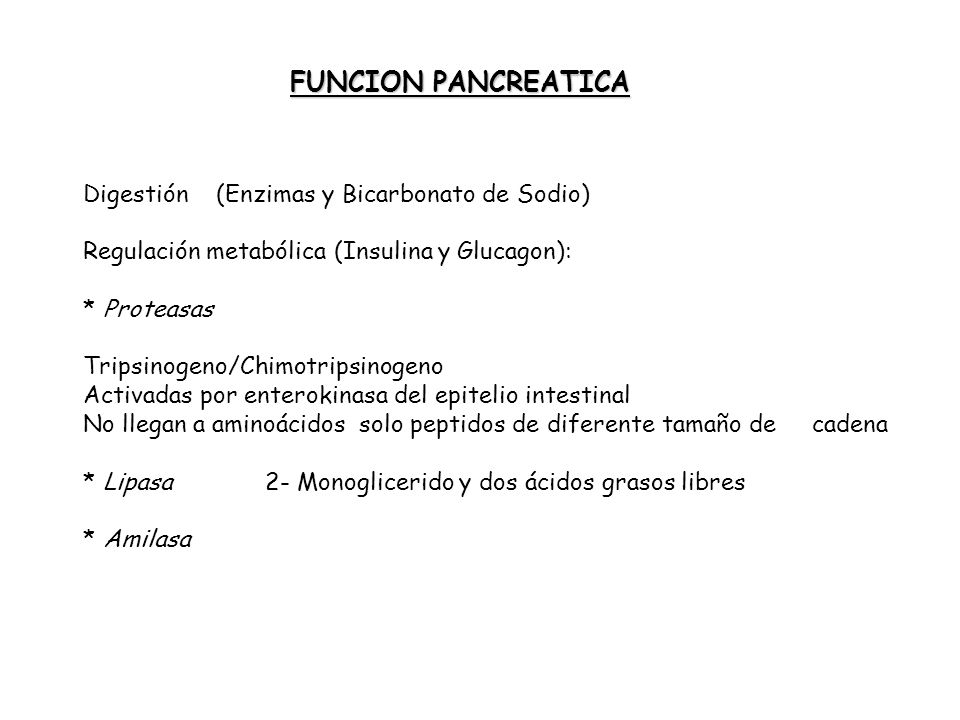 FUNCION PANCREATICA