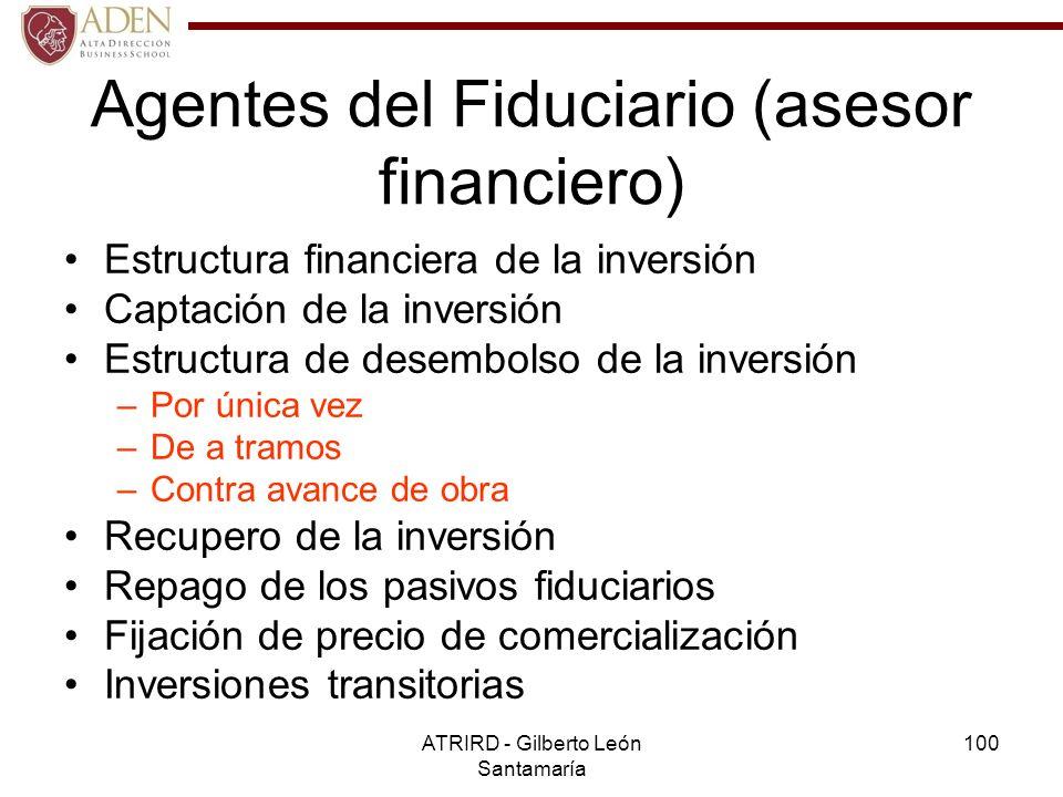 Agentes del Fiduciario (asesor financiero)