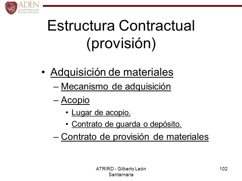 Estructura Contractual (provisión)