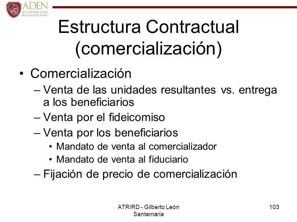 Estructura Contractual (comercialización)