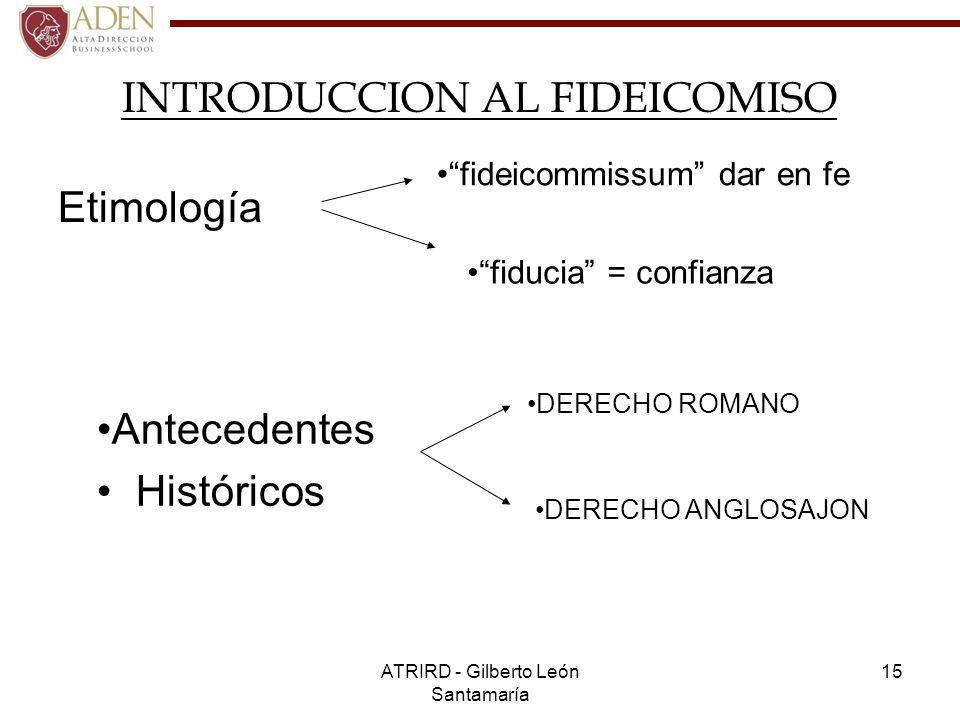 INTRODUCCION AL FIDEICOMISO